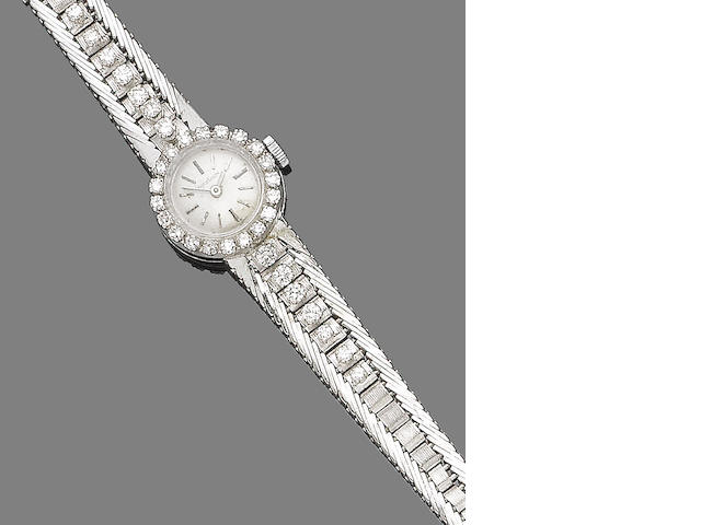 A diamond cocktail watch, by Jaeger-LeCoultre,