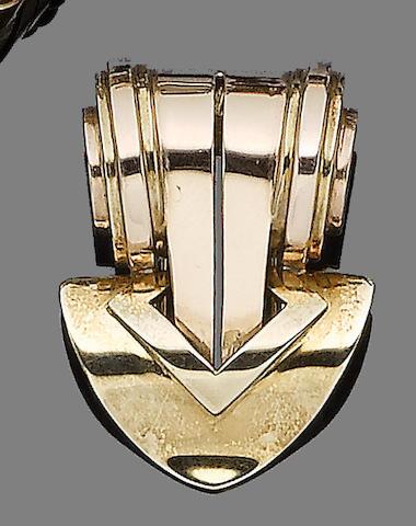 A clip brooch, by Tiffany & Co,