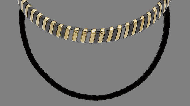 A ceramic torc collar necklace, by Bulgari