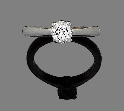 A diamond single-stone ring, by Garrard,