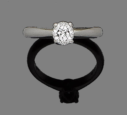 A diamond single-stone ring, by Garrard,