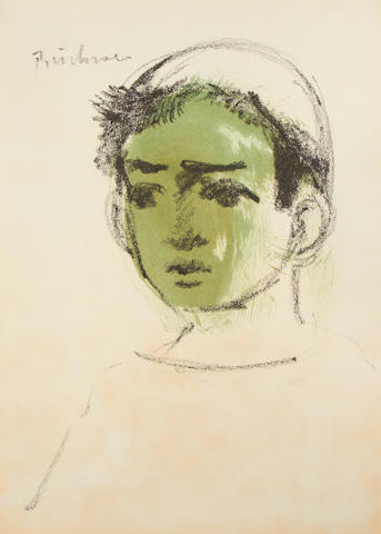 Carl Adolph Büchner (South African, 1921-2003) Portrait of a boy unframed