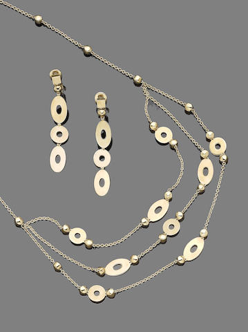 A swag necklace and earring suite, by Bulgari (2)