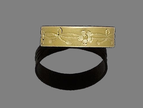 A 15th century gold ring
