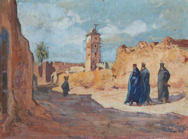 Henri Jean Pontoy (French, 1888-1968) 'Mosquée de Tiznet'