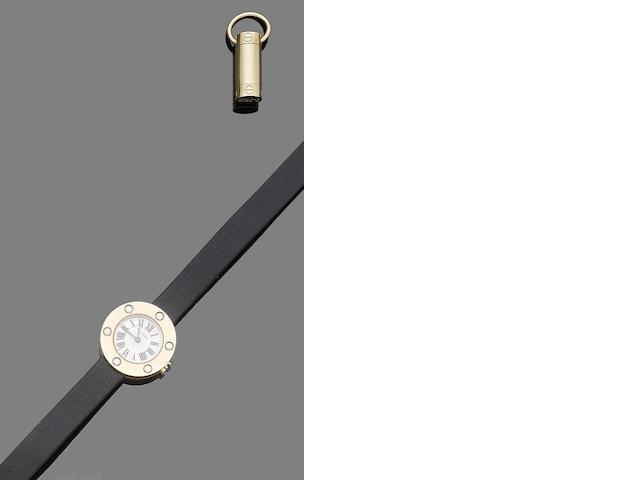A 'Love' pendant and diamond-set wristwatch, by Cartier (2)