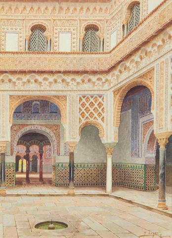 T. Liger-Hidalgo (Spanish) Moorish interior, Seville