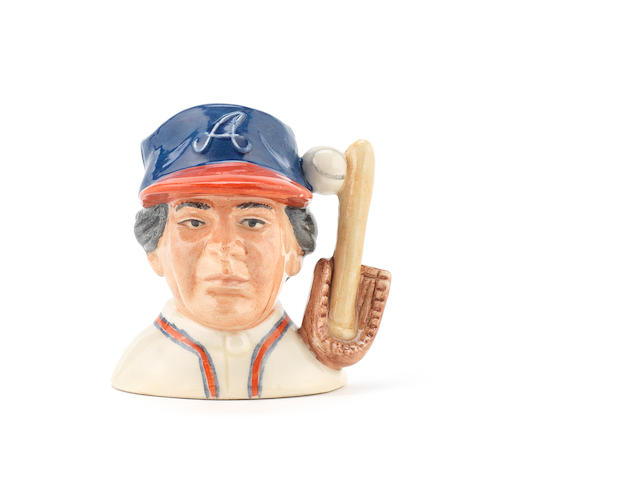 Doulton Burslem 'The Baseball Player' a Prototype Mini Character Jug, circa 1991