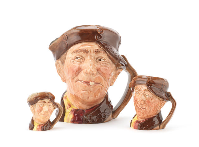 Doulton Burslem Three 'Pearly Boy' Character Jugs, 1947