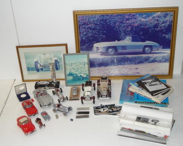 A collection of Mercedes-Benz memorabilia,