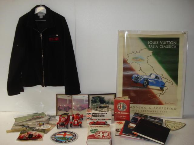 Assorted Alfa Romeo memorabilia,