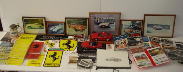Assorted Ferrari and Iso memorabilia,
