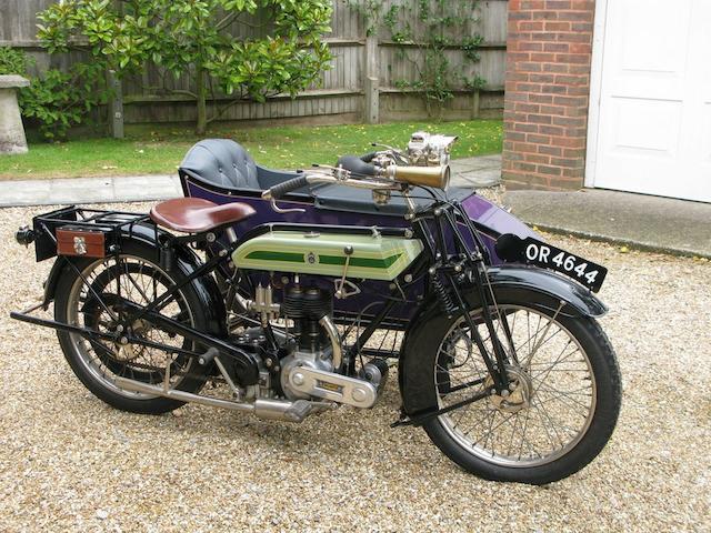 1924 Triumph SD Frame no. 338844 Engine no. 99808