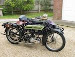 1924 Triumph SD Frame no. 338844 Engine no. 99808