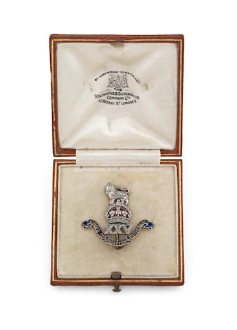 An early 20th century Scottish regimental sweetheart brooch