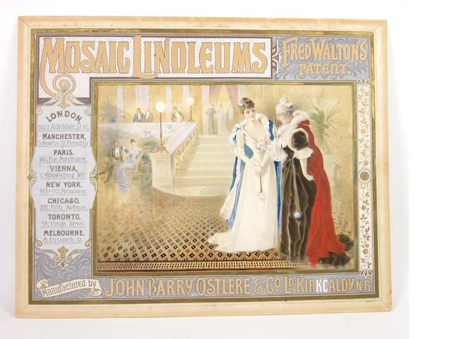 WATERCOLOUR An original watercolour design for an advertising poster