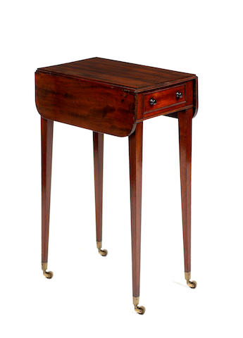 A George III mahogany small Pembroke table