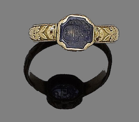 A gold and paste seal ring,