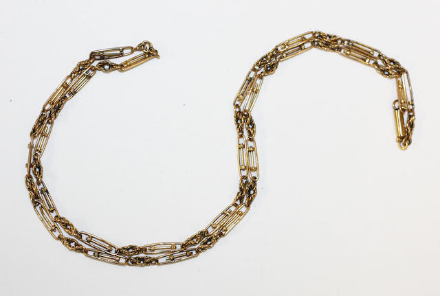 An 18ct gold fancy-link chain