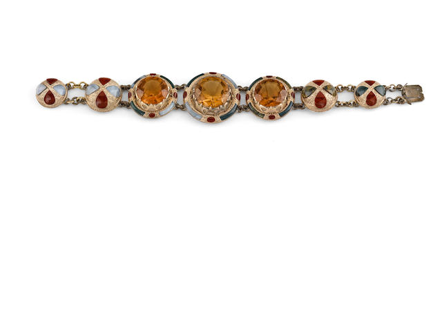 A Victorian Scottish agate bracelet