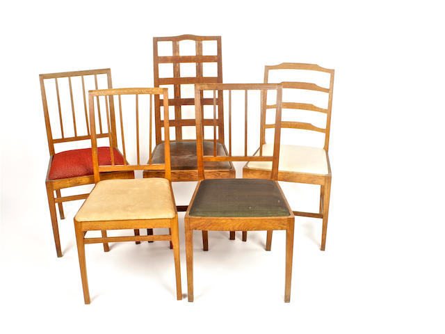5 Arts & Crafts style chairs