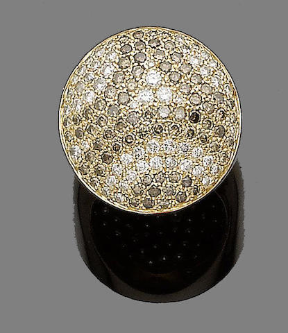 A diamond dress ring, by Cartier,