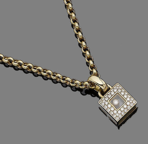 A 'Happy Diamond' pendant necklace, by Chopard
