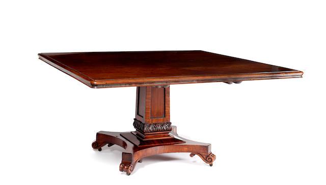 A William IV mahogany breakfast table
