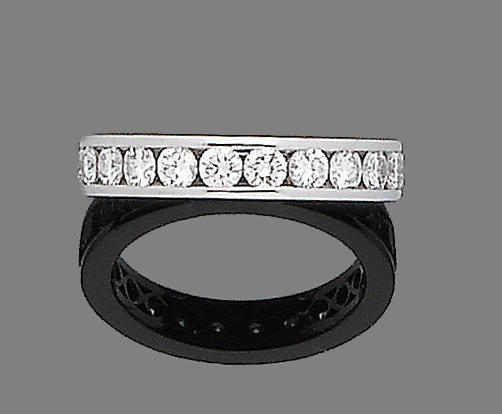 A diamond eternity ring, by Boodle and Dunthorne,
