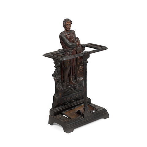 A Falkirk cast iron William Wallace stick standlate 19th/early 20th century