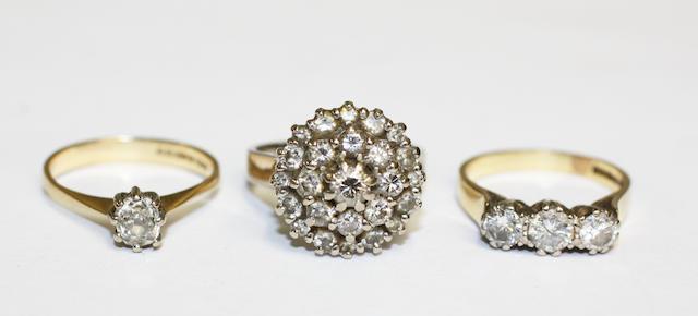 Three diamond rings,