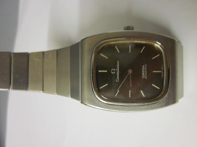 An Omega automatic Constellation stainless steel bracelet watch
