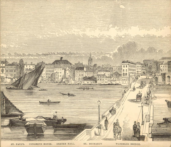 LONDON Panorama of London from the Thames Extending from the Houses of Parliament to Greenwich, [1849]