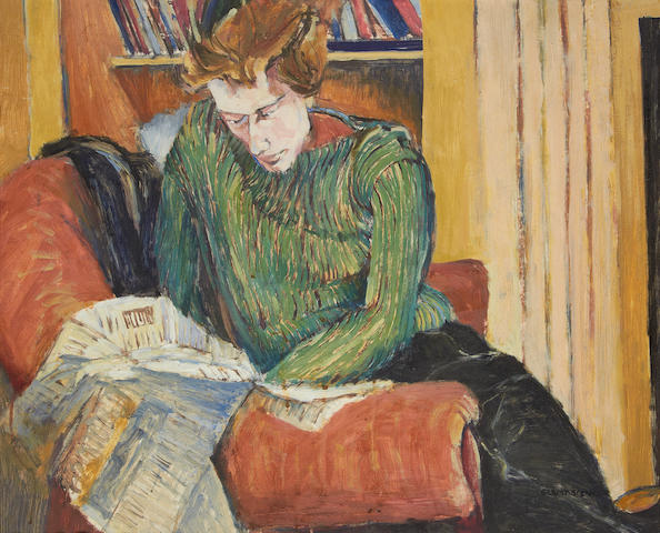 Gilbert Spencer R.A. (British, 1892-1979) Woman reading