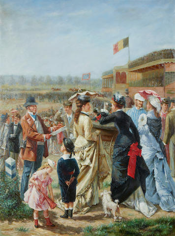 French School, 20th Century A day at the races