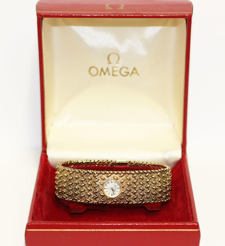 Omega: A lady's wristwatch,