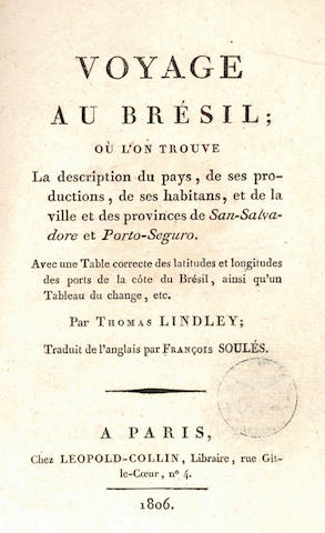 LINDLEY (THOMAS) Voyage au Bresil, ou l'on trouve la description du pays, de ses productions, de ses habitans, 1806; and 7 others, including Marconi (2), others odd volums (8)