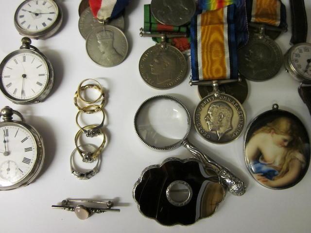 1914 - 1918 British War  Medal, Victoria medal 36835 Pte  D Roberts, MGC (Qty)