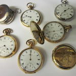 Waltham: A rolled gold open faced pocket watch,  (7)