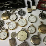 A Victorian silver key wound chronograph pocket watch,  (Qty)