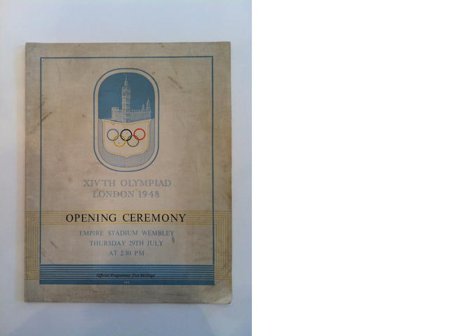 Opening Ceremony - Official Programme The opening programme to the 1948 Games