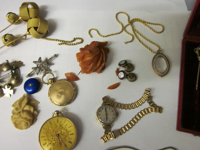 A Georgian locket pendant,  (Qty)