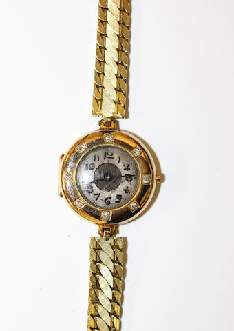 14ct gold wristwatch