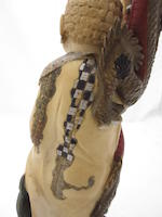 A tinted ivory mythical group Early 20th century