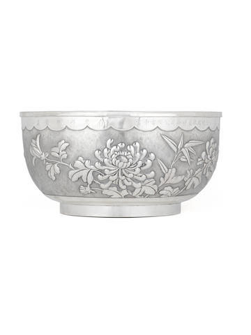 A Chinese silver punch bowl Late 19th century, impressed mark Tianjin Hengli zuwen pin