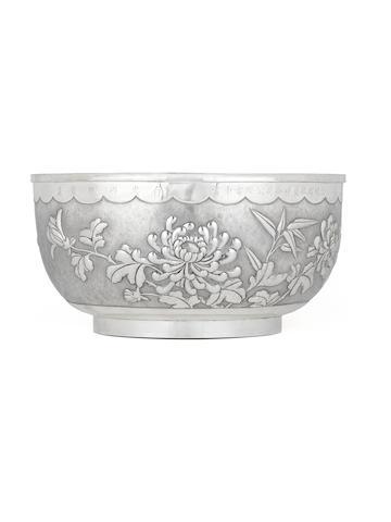 A Chinese silver punch bowl Late 19th century, impressed mark Tianjin Hengli zuwen pin