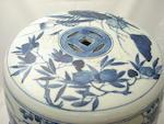 A blue and white garden seat Early 20th century