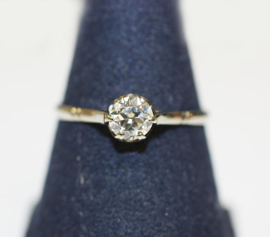 ring with 0,50 crt diamond
