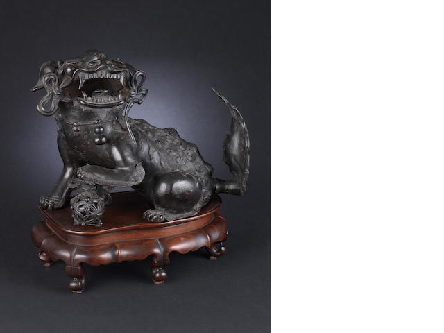 A large bronze Dog of Fo 19th century