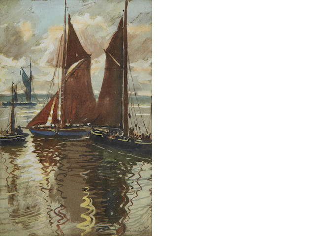Sydney Carter (South African, 1874-1945) Sailing boats